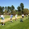 A view of the practice area at Magnolia Greens Golf Course