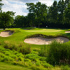 View of a bunkered green at Eaglewood Resort & Spa