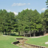 View of a bunkered green at Oak Hills Golf Club