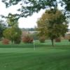 A view of two greens at Majestic Hills Golf Course