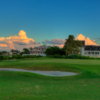 A view of a hole protected by bunkers at Apollo Beach Golf & Sea Club