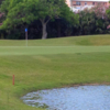 A view of the 1st green at Port Royal Golf Course