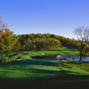 View of the 5th green from the Lakes course at Centennial Golf Club