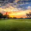 Sunset view of a green at Timacuan Golf Club