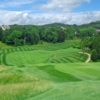 View of a green and fairway at Pevely Farms Golf Club