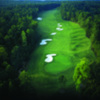 Aerial view of the 17th hole at Governor's Towne Club
