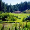 A view of the clubhouse at Plumas Pines Golf Resort