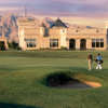 Royal Links' clubhouse seen from the 9th hole