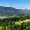 A beautiful view from the Skamania Lodge Golf Course