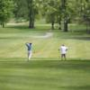 A view from a tee at Stony Creek Golf Course