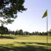 A sunny day view of a green at Chautauqua Golf Club