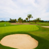 A view of a green protected by bunkers from The Greg Norman Signature Course at Vidanta Nuevo Vallarta