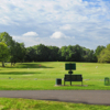 A view of the driving range at Quail Brook Golf Course