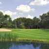 A view of a green from the West at White Pines Golf Course