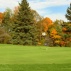 A fall day view of a hole at Fox Hills Resort
