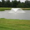 A view of a green with water coming into play at Honeywell Golf Course