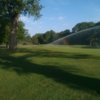 A sunny day view of a hole at Veenker Memorial Golf Course