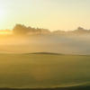 A sunny day view of a hole at Stonegate Golf Club