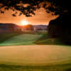 Sunrise over the 12th hole at The Schuss Mountain at Shanty Creek