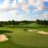 A view of the 6th green flanked by bunkers at Blue Monster Course from Trump National Doral Miami