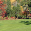 A fall day view of a hole at Blue Fox Run Golf Club