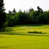 A view of a green with a bunker on the left at Loch March Golf and Country Club