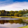 View of the clubhouse and hole #5 at Old South Golf Links