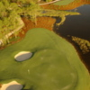 Aerial view of the 12th green at Old Corkscrew GC.