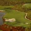 Old Corkscrew: Aerial view of the 15th hole
