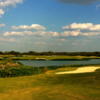 The par-3 13th hole at Austin's Roy Kizer Golf Course plays over water